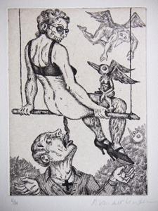 """2 expositions autour de"""" Sade"""", port folio de gravures aux éditions Ah Pook"""